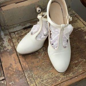 Vintage white t-strap Shoes
